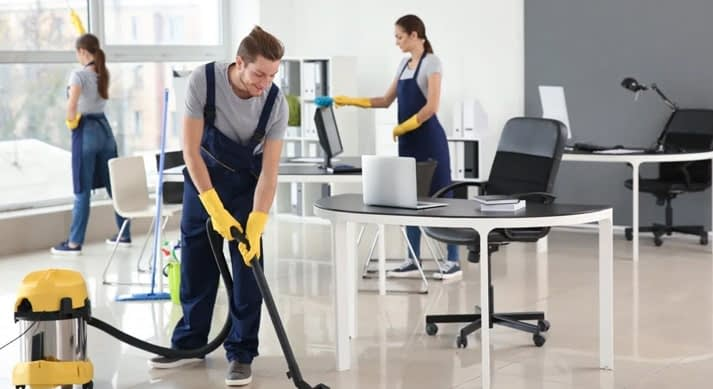 team of cleaning staff